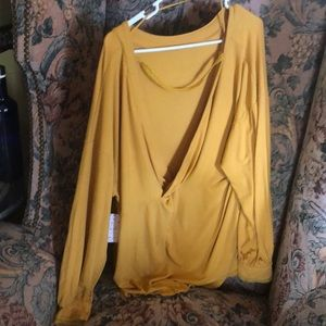 Free People Untamed Gold With Open Back